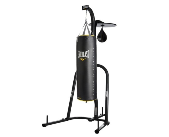 Everlast Single Station Heavy Punching Bag Boxing Stand MMA White *BRAND NEW*