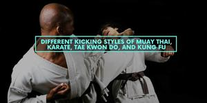 Different Kicking Styles of Muay Thai, Karate, Tae Kwon Do, and Kung Fu