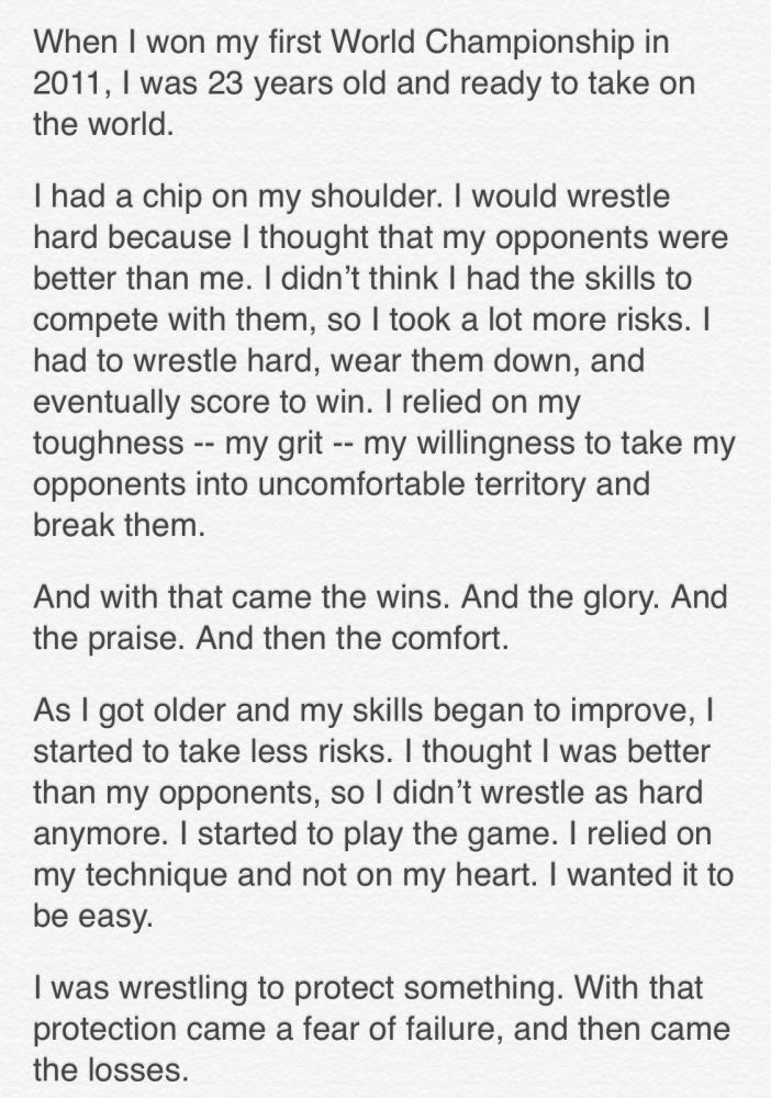 jordan burroughs on what it takes to become the best